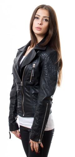 New Niomi schwarze Damen Lederjacke von TRENDZONE