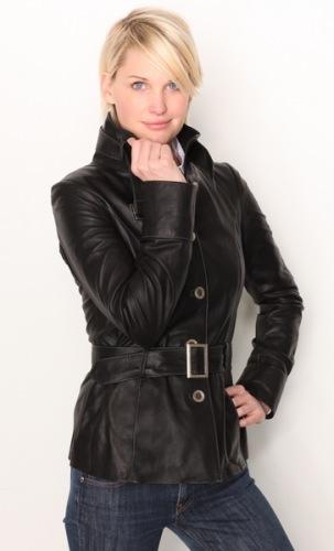 Damen Lederjacke CARA/4419 (schwarz)