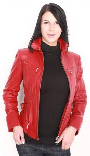 Sandy/5087 Damen Leder-Jacke rot