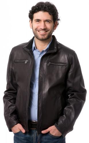 Paco schwarze Herren Lederjacke von Milestone