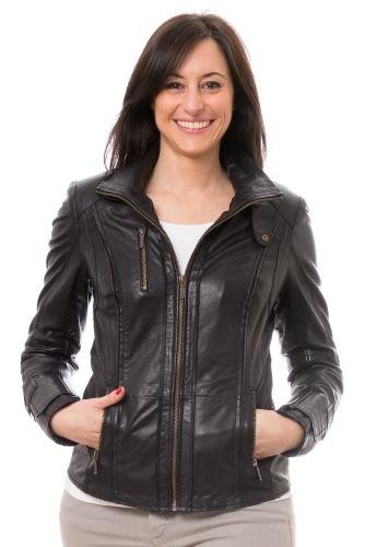 Tolly schwarz Damen Lederjacke von TRENDZONE
