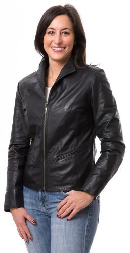 Giselle schwarze Lederjacke für Damen von TRENDZONE