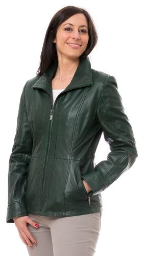 Adda grüne Damen Lederjacke von TRENDZONE