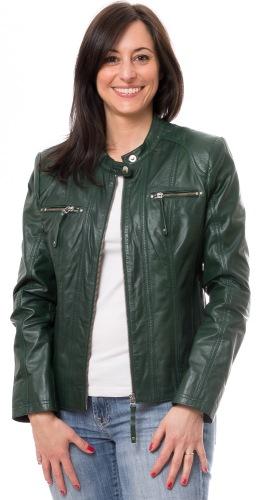Privia grüne Damen Lederjacke von TRENDZONE