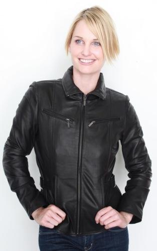 Sandy/5087 Damen Lederjacke schwarz
