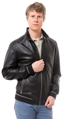 DS 109 schwarze Lederjacke für Herren von TRENDZONE