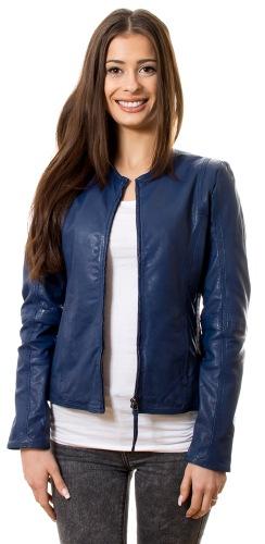 1801 blaue Damen Leder Jacke von TRENDZONE