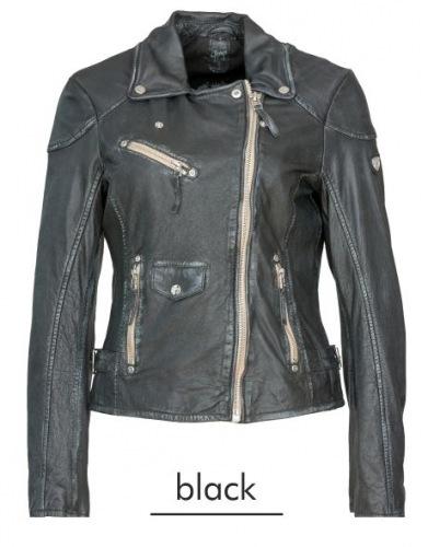 Perfecto schwarz-antik Damen Lederjacke von Gipsy/Mauritius