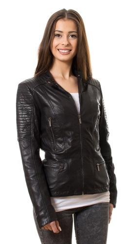 Daisy schwarz Lederjacke für Damen von TRENDZONE