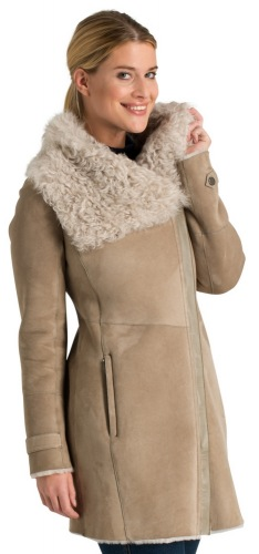 9341.10W beige Damen Lammfelljacke von TRENDZONE