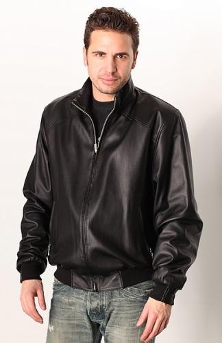 Herren Leder Blouson 3218 schwarz