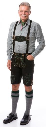Sepp Herren Trachten Lederhose mit Träger