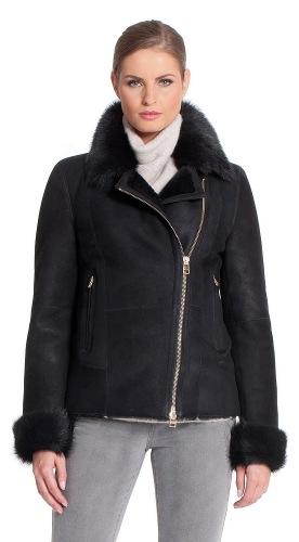 Icesima schwarz Jacke aus Lammfell
