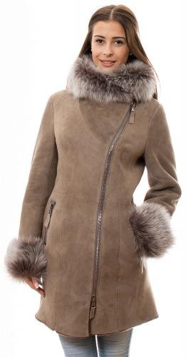 Lammfell mantel damen lang