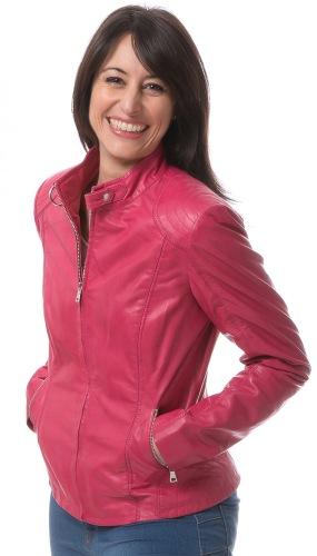 Rouse pink Damen Leder Jacke von TREND ZONE