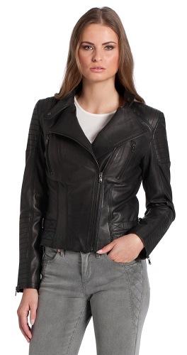 New Nimoi schwarze Leder Jacke für Damen
