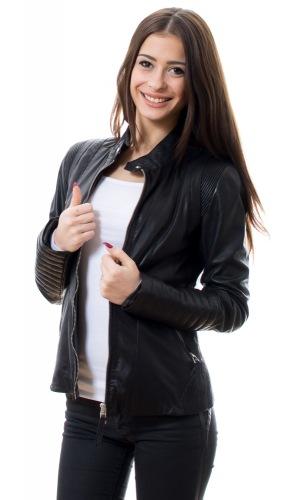Zorra Damen Lederjacke schwarz von TRENDZONE