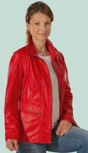 Lovelyn rote Damen Jacke aus Leder von DAVID MOORE