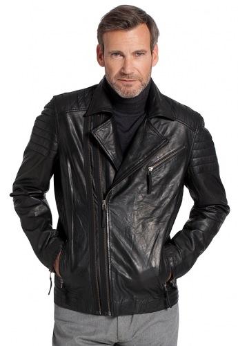 Gentle V Leder Jacke für Herren