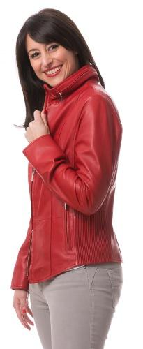 5679 rote Damen Lederjacke von TRENDZONE