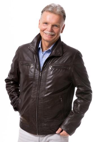 Adonis dunkelbraun Leder Jacke für Männer von TRENDZONE
