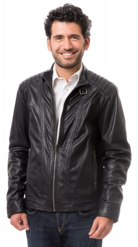 Jerry K schwarze Lederjacke von Rockhill