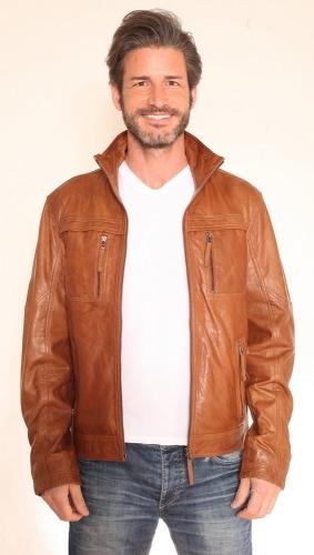 Ravan Multifunktions Lederjacke für Herren von Trendzone