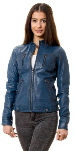Pawera blau Damen Lederjacke von TRENDZONE