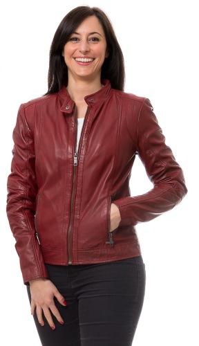 Marcie rote Damen Lederjacke von MAZE