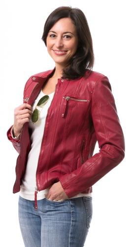 Privia rot Damen Lederjacke von TRENDZONE