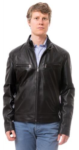 LF-10270 schwarze Herren Leder Jacke von TRENDZONE