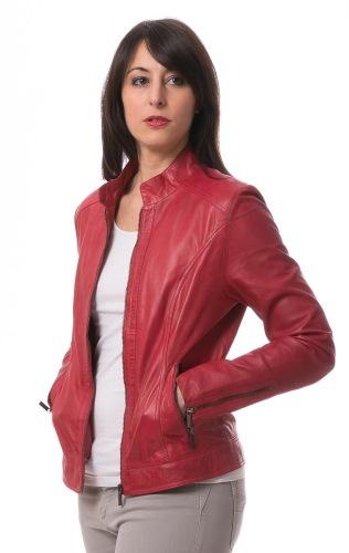 TZ rote Damen Lederjacke von TRENDZONE