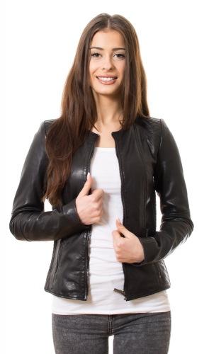 New Jolene schwarze Damen Lederjacke
