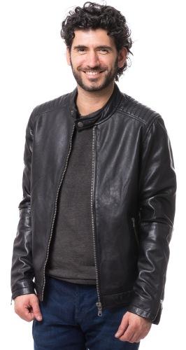 Shaun schwarze Leder Jacke für Herren von TRENDZONE