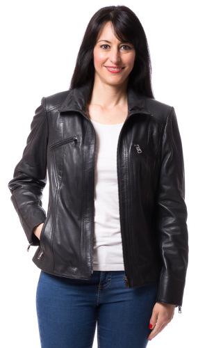 Day schwarz Leder-Jacke für Frauen von TRENDZONE