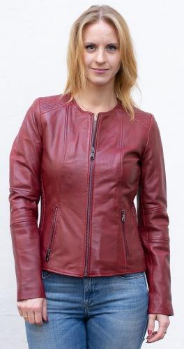 New Jolene rote Lederjacke für Damen von TRENDZONE