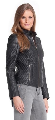 Zenath schwarz Lederjacke für Damen