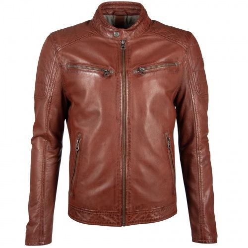 Derry Nappa Leder Jacke für Männer darkcognac für Männer von GIPSY