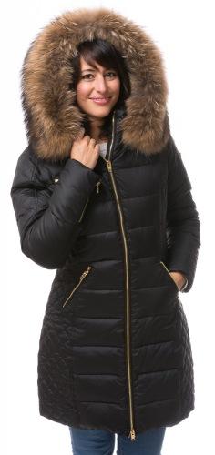 Ciara schwarze Daunenjacke von ROCKANDBLUE
