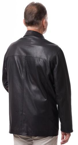 Aachen schwarze Herren Leder Jacke von MADDOX