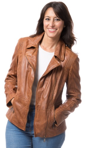 Ariane A Lederjacke für Damen von TRENDZONE