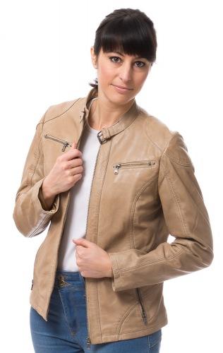 Tiara light-camel Lederjacke für Damen von ROCKHILL