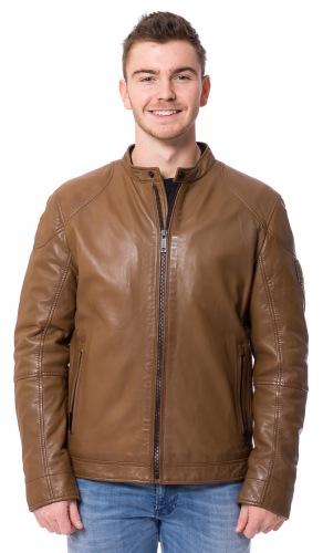 Noxon hellbraune Lederjacke für Männer von STRELLSON
