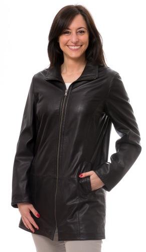 Lucetta schwarz Damen Lederjacke von TRENDZONE