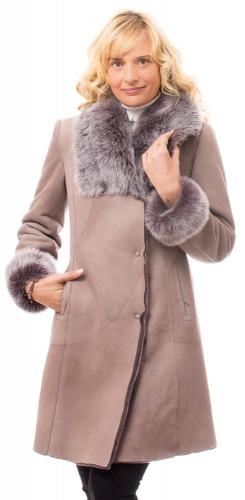 Cresta taupe Lammfelljacke für Damen