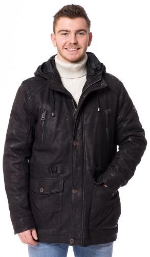Dingham schwarzer Lederparka von REDPOINT