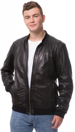 Tom schwarze Lammnappa Jacke von TRENDZONE
