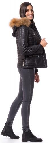 Lisa schwarze Nappa Leder Jacke von TRENDZONE