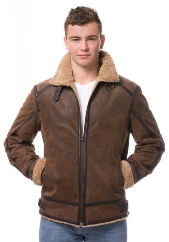 Keith Lederjacke im Bomber Jacket Style von MADDOX
