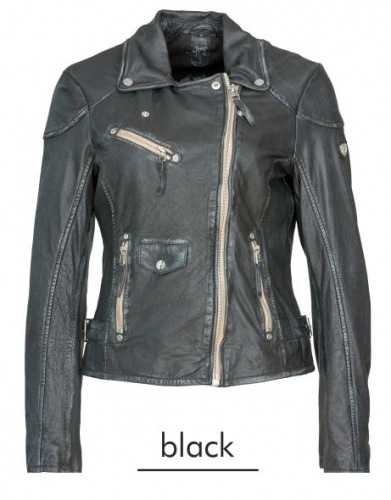 PGG Perfecto schwarz-antik Damen Lederjacke von Gipsy